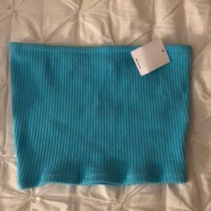 urban outfitters blue tube top